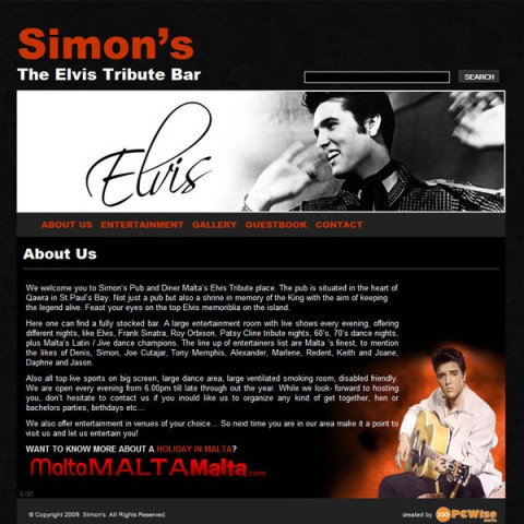 Simon's Elvis Tribute Bar